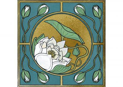 Illu – Lotus à la Art Nouveau